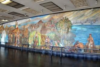 immagine del murales della stazione di messina