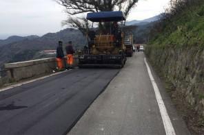 Messina. Quasi completati i lavori sulla strada che da S. Michele porta a Castanea