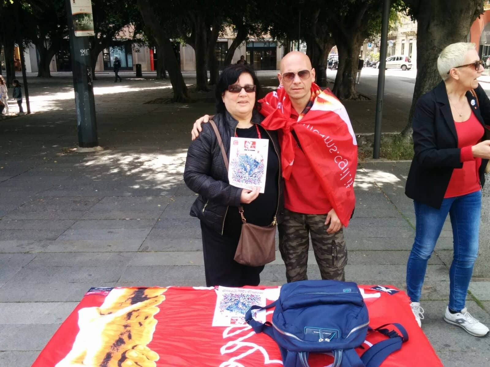 sciopero cgil piazza cairoli - messina
