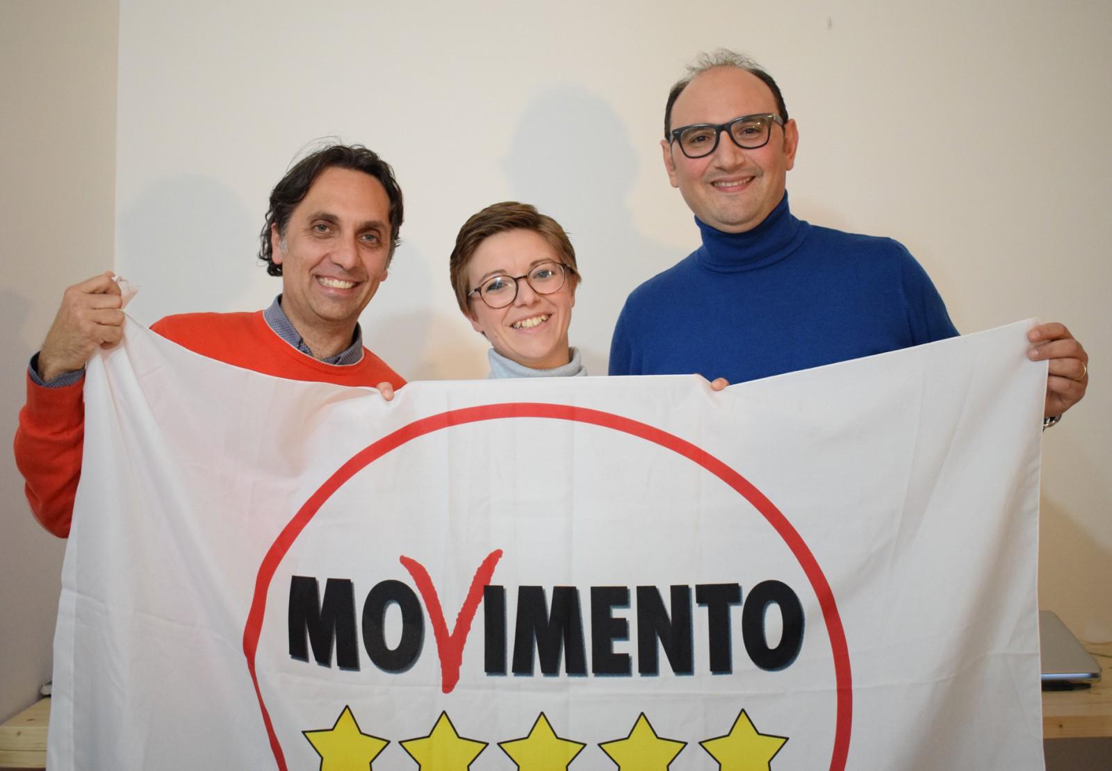 Foto M5S - Colajanni e Schepis con la parlamentare del Movimento 5 Stelle Angela Raffa