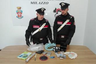 Droga in sequestro Milazzo