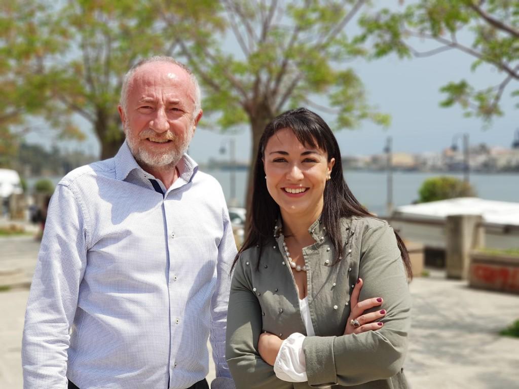 Foto di Gaetano Sciacca e Valentina Zafarana a Ganzirri