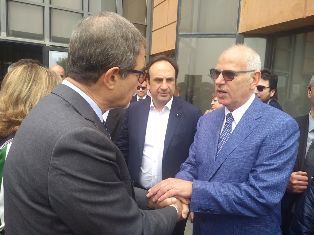 Foto del presidente della Regione Nello Musumeci con Dino Bramanti, candidato sindaco di Messina