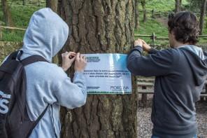 Scampagnate del 25 aprile. Sui colli i cartelli dell'Associazione Morgana contro l'abbandono dei rifiuti