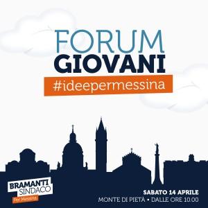 locandina del primo incontro del forum giovani ideato dal candidato sindaco dino bramanti - messina