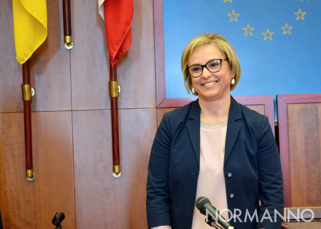 Foto della conferenza stampa di Emilia Barrile, Salone delle Bandiere - Candidato sindaco di Messina