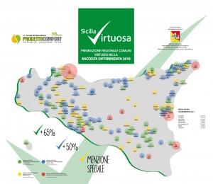 mappa della raccolta differenziata in sicilia