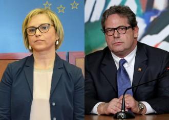 Foto confronto fra Emilia Barrile e Gianfranco Miccichè - Elezioni amministrative 2018 Messina