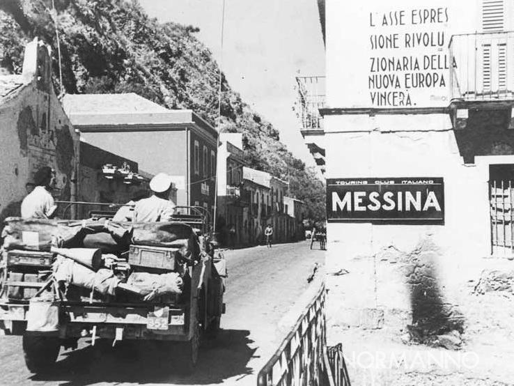 foto dello sbarco delle truppe alleate a messina nel 1943