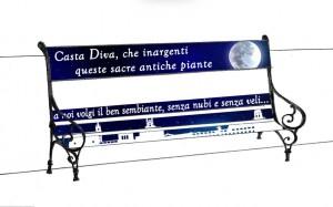 Bozzetto 02 realizzato dai volontari di Puli-Amo Messina per restaurare le panchine di Piazza Bellini