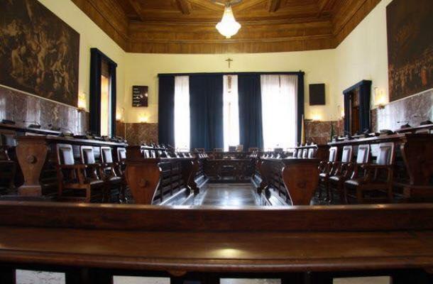 Foto dell'aula del Consiglio comunale di Messina