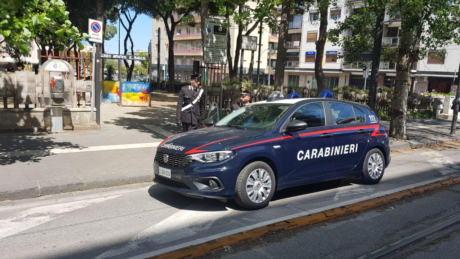 Carabinieri a Villa Quasimodo