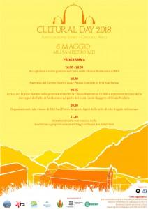 locandina con il programma del Cultural Day 2018 che si terrà a Mili San Pietro - Messina