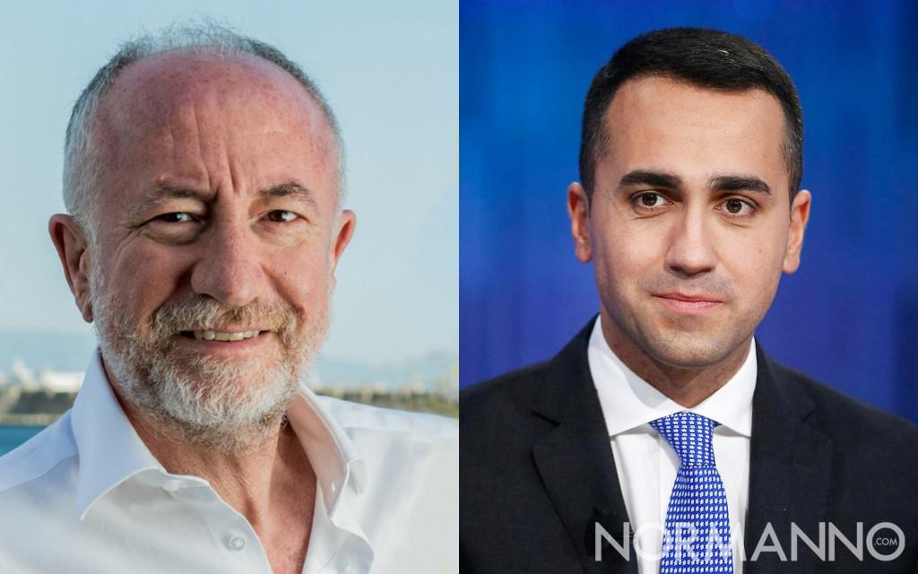Foto a due, candidato sindaco Gaetano Sciacca e leader M5S Luigi Di Maio - elezioni amministrative messina 2018