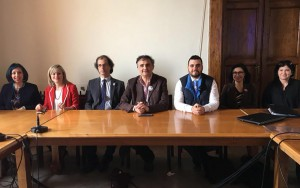 Pippo Trischitta e componenti della lista Messina Splendida
