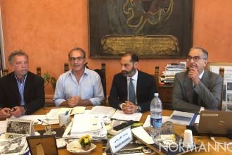 Foto della presentazione al Comune del POT di AMAM Messina