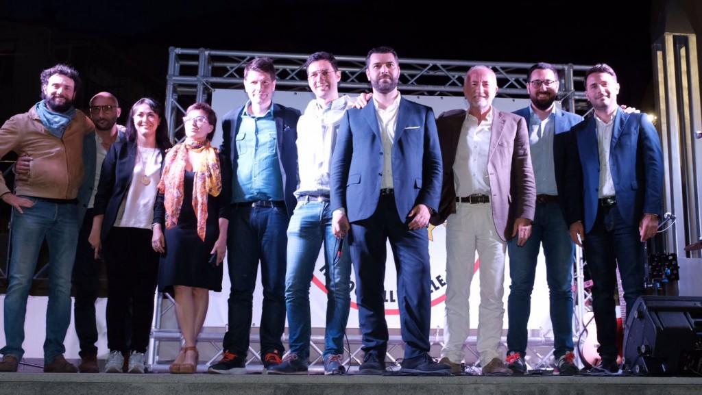 Foto di Gaetano Sciacca a Giampilieri, candidato sindaco Messina M5S