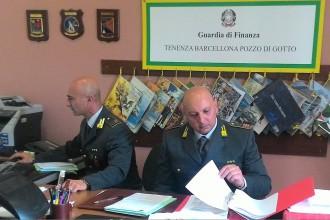 Foto di repertorio della tenenza di Barcellona PG della Guardia di Finanza
