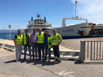 incontro tra il candidato sindaco antonio saitta e i lavoratori portuali di messina