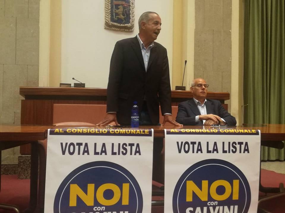 Foto dell'on. Lo Monte e di Dino Bramanti, presentazione lista Noi con Salvini