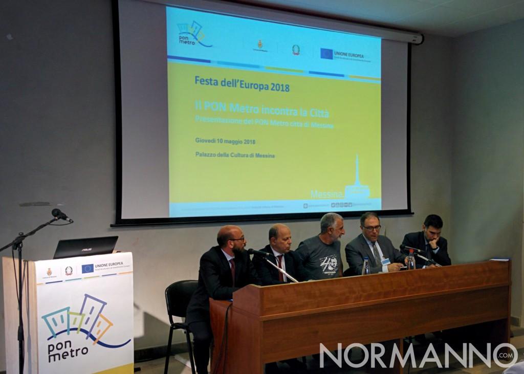 Foto della conferenza di presentazione dei progetti del PON Metro di Messina 2014-2020