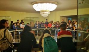 """visita guidata degli studenti dell'Istituto Comprensivo Statale """"Maria Montessori"""" di Caltagirone al teatro vittorio emanuele di messina"""