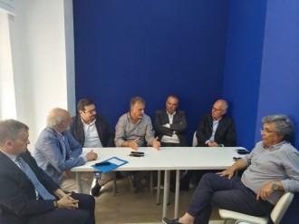 Dino Bramanti con rappresentanti commercio Messina