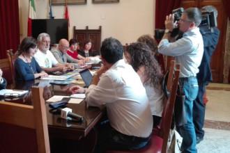 foto della conferenza stampa di presentazione dell'ufficio di servizio sociale - messina