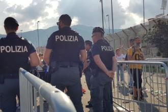 Messina - controlli della Polizia al concerto di Vasco Rossi
