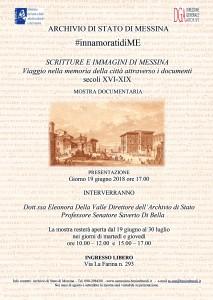 Scritture e immagini di Messina - mostra organizzata nell'ambito di #InnamoratidiME all'archivio di Stato di Messina