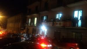 Sotto il comitato elettorale di De Luca - ballottaggio Messina
