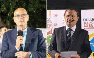 Foto confronto dei due candidati al ballottaggio, annullati i comizi per il 15 giugno a Messina