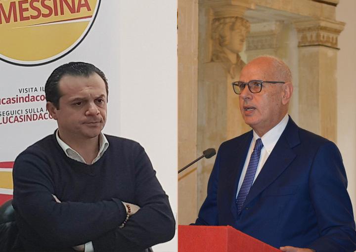 Foto confronto di Cateno De Luca e Dino Bramanti in vista del ballottaggio delle elezioni 2018 a Messina