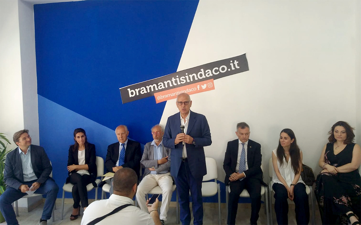 il candidato sindaco Dino Bramanti presenta i suoi assessori designati - messina