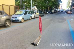 Messina. Nuova buca nell'asfalto di via Ugo Bassi