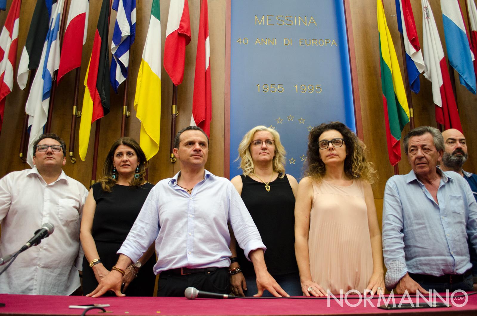 Cateno De Luca e gli assessori