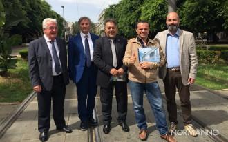 cateno de luca presenta il progetto del tram sospeso