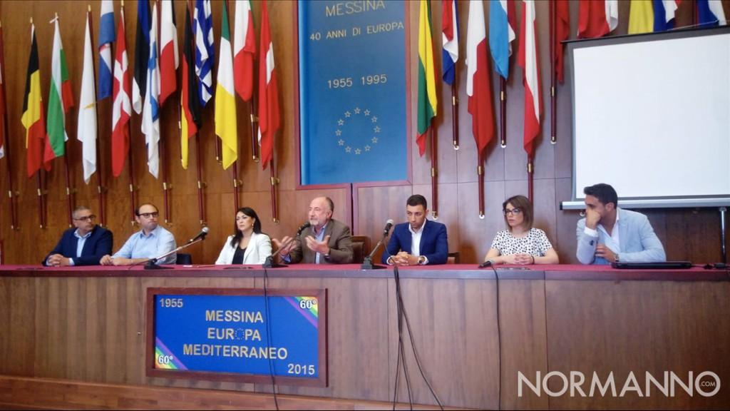 Foto della conferenza stampa del M5S al Comune di Messina in vista del ballottaggio del 24 giugno