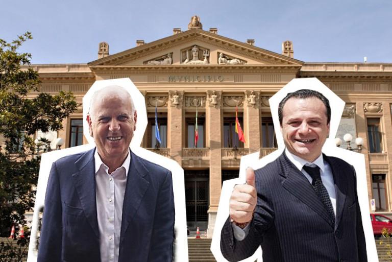 Foto a due, ballottaggio Dino Bramanti e Cateno De Luca - amministrative messina 2018