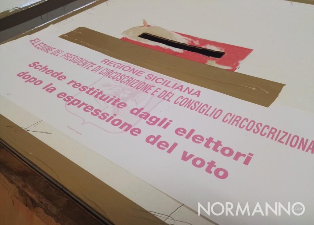 Foto dell'urna per il voto alle circoscrizioni - elezioni amministrative messina 2018
