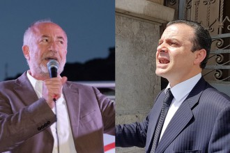 Foto confronto fra i candidati sindaco Sciacca e De Luca