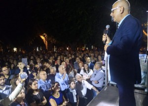 Foto comizio Dino Bramanti, piazza Cairoli - Elezioni amministrative Messina 2018