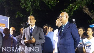 Foto del presidente Ars Nello Musumeci a Messina per la candidatura di Dino Bramanti - amministrative 2018