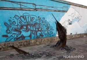 murales maregrosso e scultura di giuseppe raffaele - messina