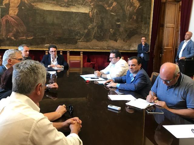 Foto dell'incontro con il tavolo tecnico per il censimento e l'abbattimento dei cinghiali