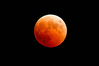 eclissi di luna - luna rossa