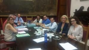 incontro della giunta De Luca con Loredana Carrara, dirigente dell'ufficio di gabinetto del comune