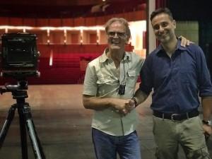 Foto di Klaus Frahm e Luciano Fiorino, presidente dell'EAR Teatro di Messina