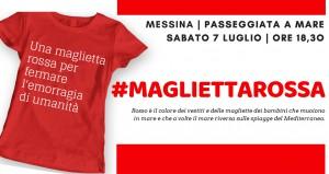 #magliettarossa MESSINA iniziativa di libera per promuovere l'accoglienza