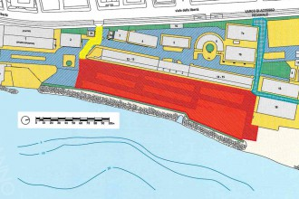 Scansione della planimetria del quartiere fieristico in concessione dall'Autorità Portuale di Messina